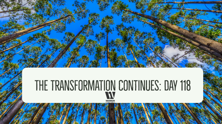 The Transformation Continues: Day 118